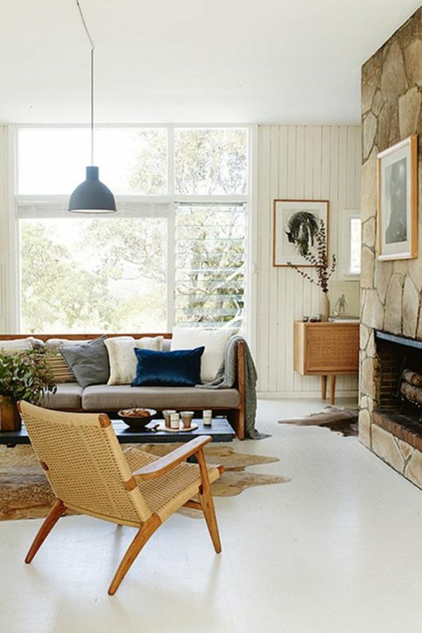 Das wohnzimmer rustikal einrichten ist der landhausstil for Kamin landhausstil