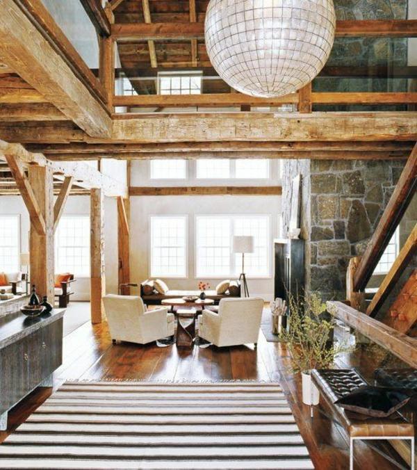 Wohnzimmer Und Kamin Stein Design