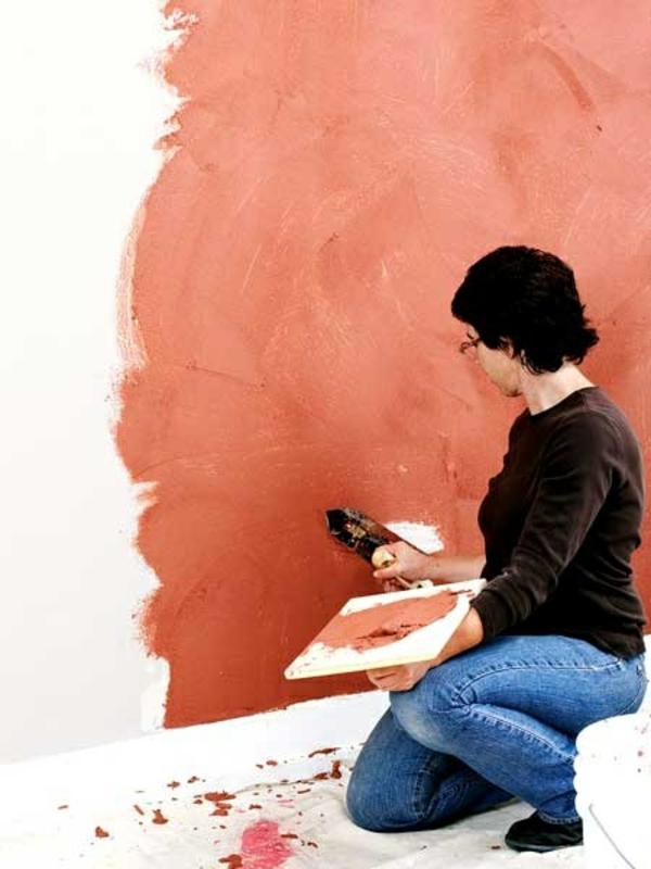 streichputz auftragen wände verputzen streichputz farbig