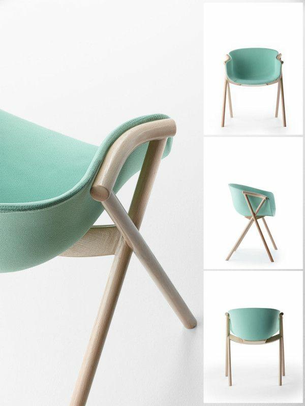 stuhl skandinavisches design Bai Chair Ander Lizaso Ondarreta