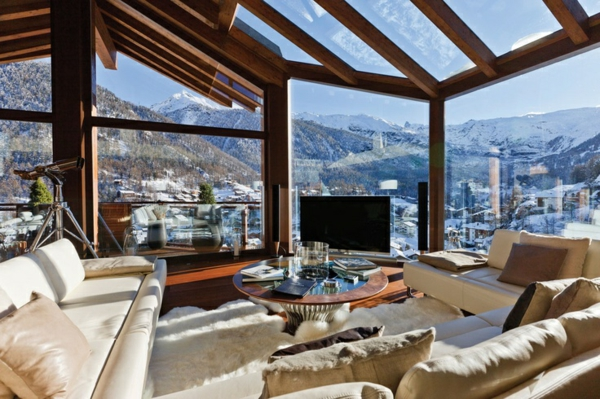 Terrasse Einrichten Dachterrasse Winter Wintergartenbau Wohnzimmer