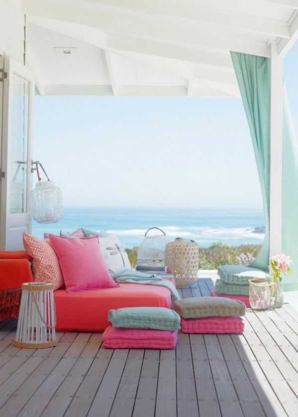 terrassendielen veranda bauen amerikanische holzhäuser meerblick lounge möbel