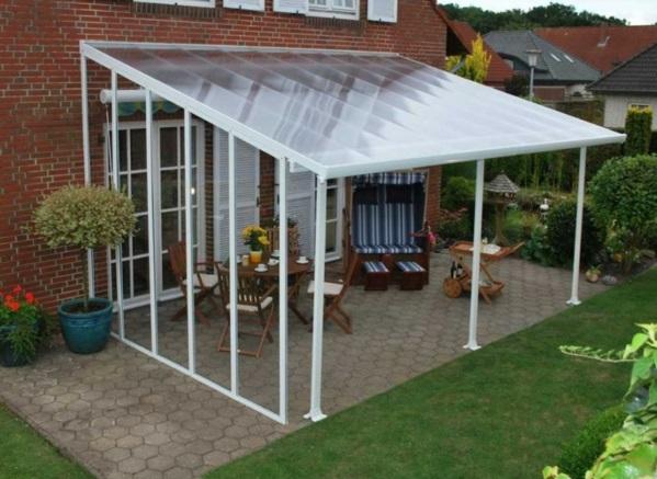 terrassengestaltung bilder veranda bauen terrassenüberdachung glas fertig