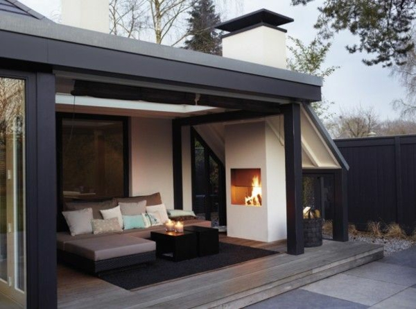 wintergarten einrichten terrassen berdachung glas. Black Bedroom Furniture Sets. Home Design Ideas