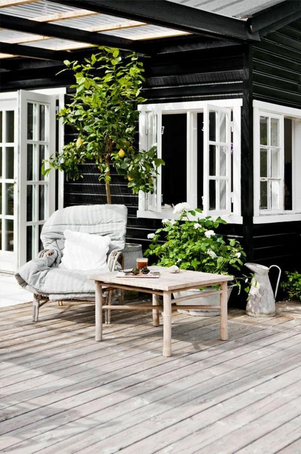 terrassengestaltung veranda bauen amerikanische holzhäuser terrasse einrichten