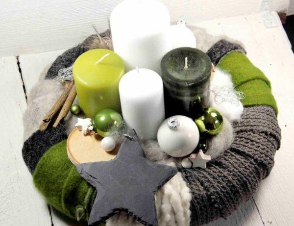 1001 adventskranz ideen und bilder f r ihre weihnachtsdeko for Moderne adventsgestecke basteln