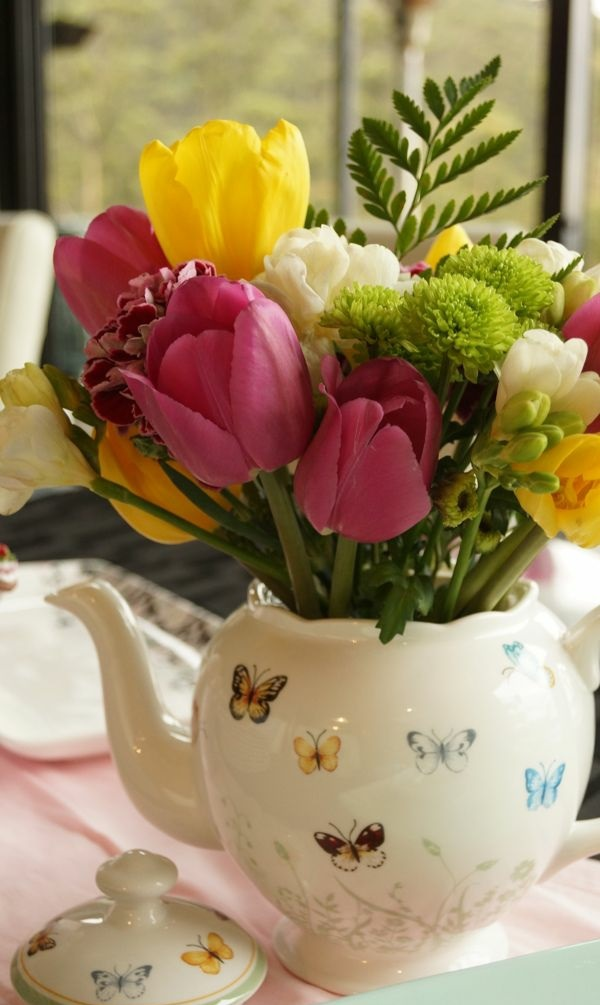 tischdeko rustikal tischdeko ideen mit tulpen