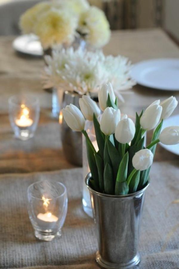 tischdeko selber machen tischdeko ideen mit tulpen