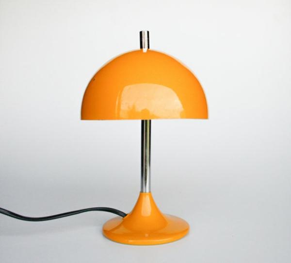 tischlampen stehlampen design nachttischlampe orange