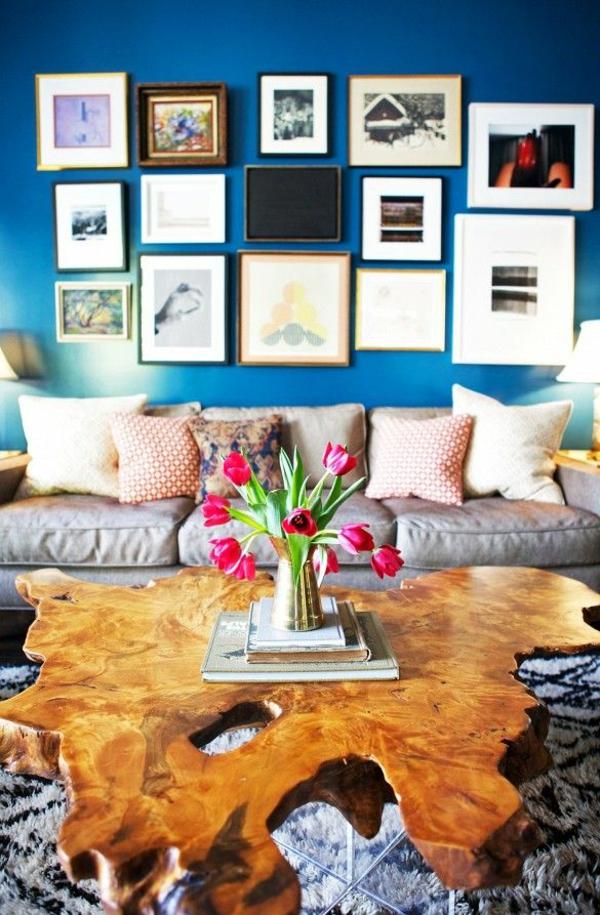 tolle wohnideen wandfarben wandgestaltung  bilderrahmen