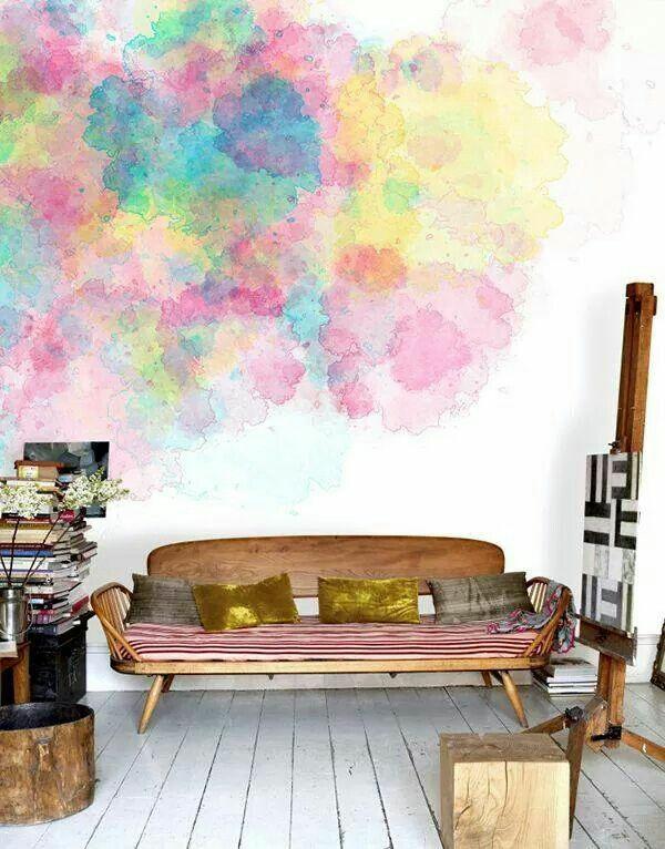 wandgestaltung wohnideen tolle wandfarben bunt vermischt
