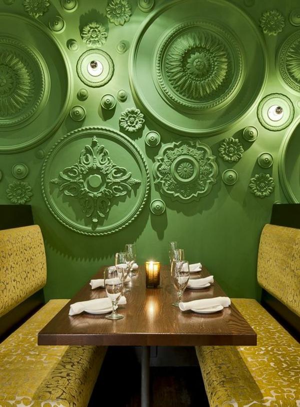 wohnideen wandfarben wandgestaltung grün klassisch