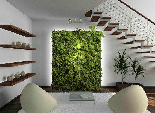 wandgestaltung wohnideen wandfarben pflanzen wand