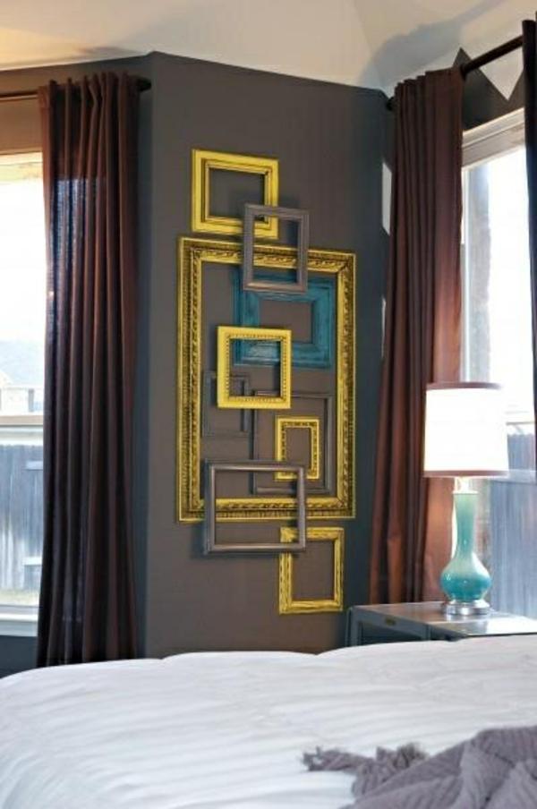 rahmen bilder wandgestaltung wohnideen wandfarben dekorativ