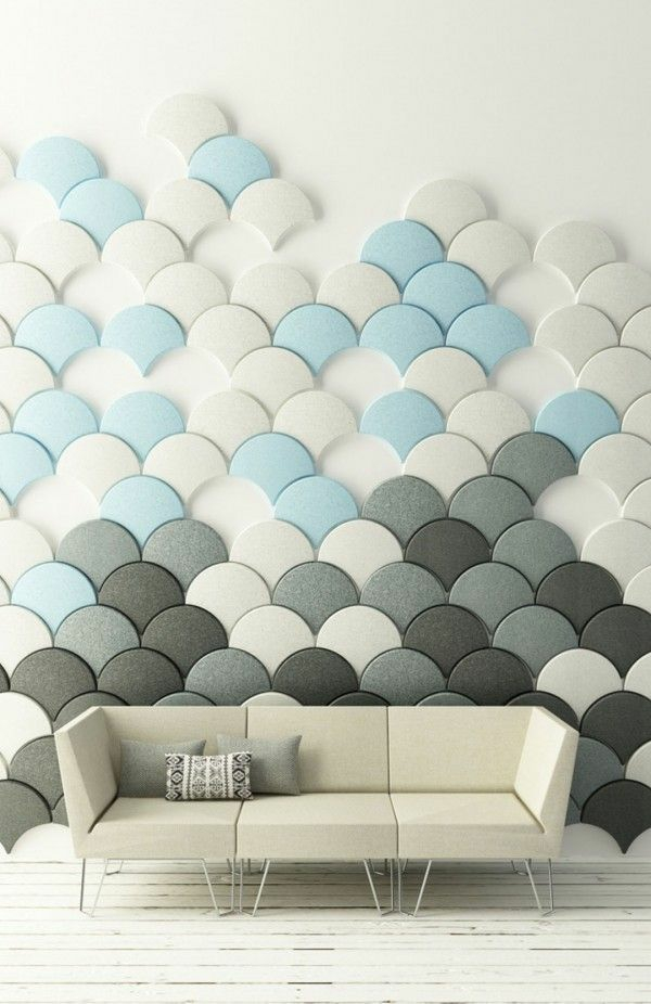 tolle wandgestaltung wohnideen wandfarben sofa elegant