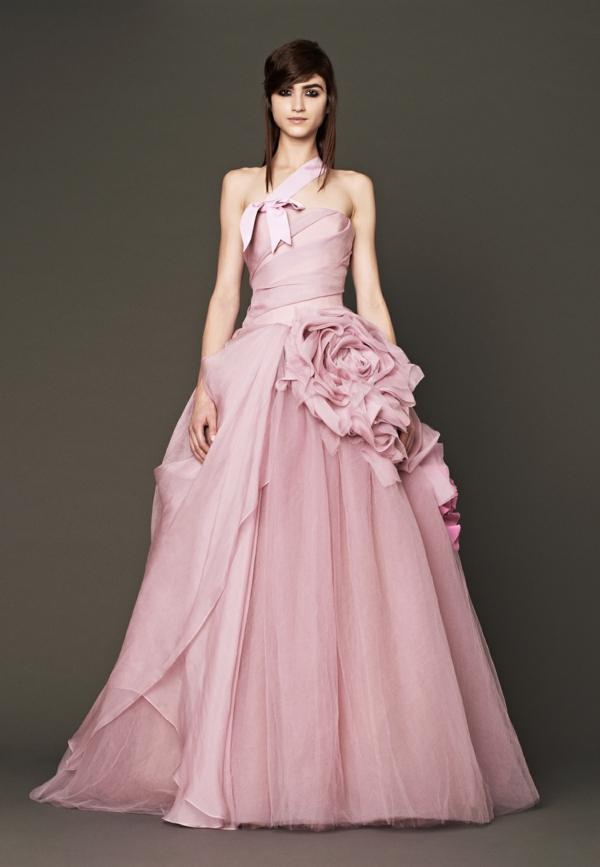 hochzeitskleider rosa brautmode 2014 designer hochzeitskleider