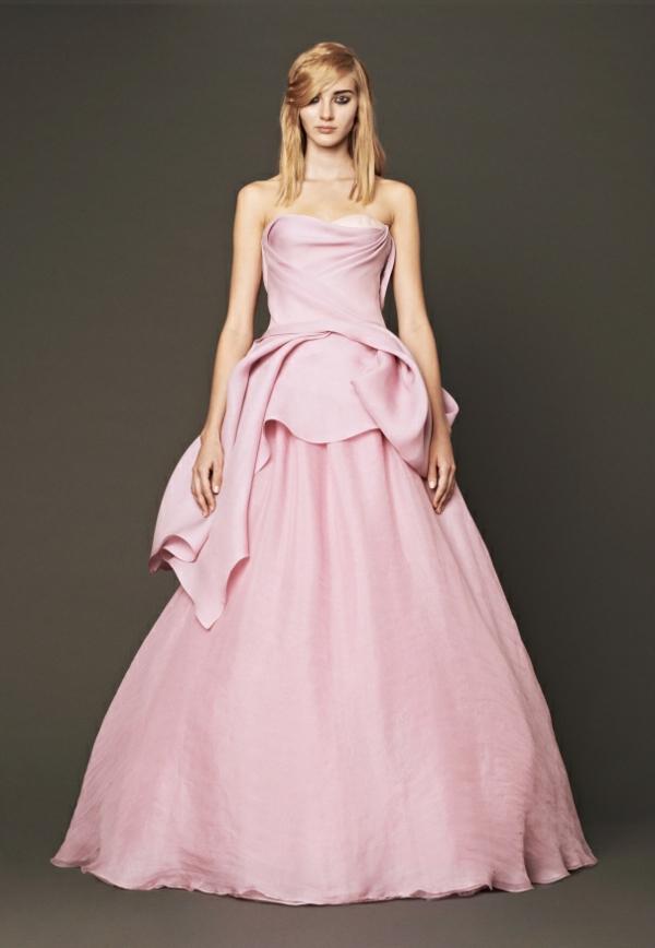 vera wang hochzeitskleider rosa brautmoden