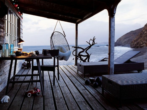 veranda bauen amerikanische holzhäuser holzboden terrasse meerblick