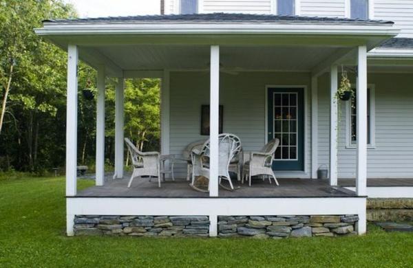 veranda bauen amerikanische holzhäuser terrassenplanung