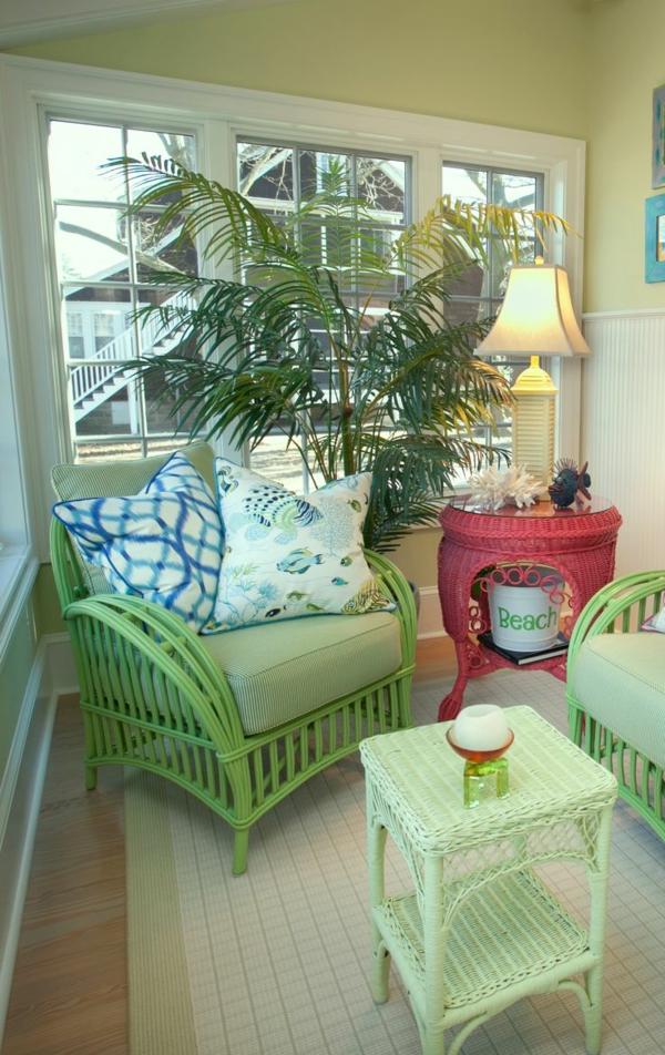 veranda wintergarten wintergartenmöbel rattan lounge möbel grün