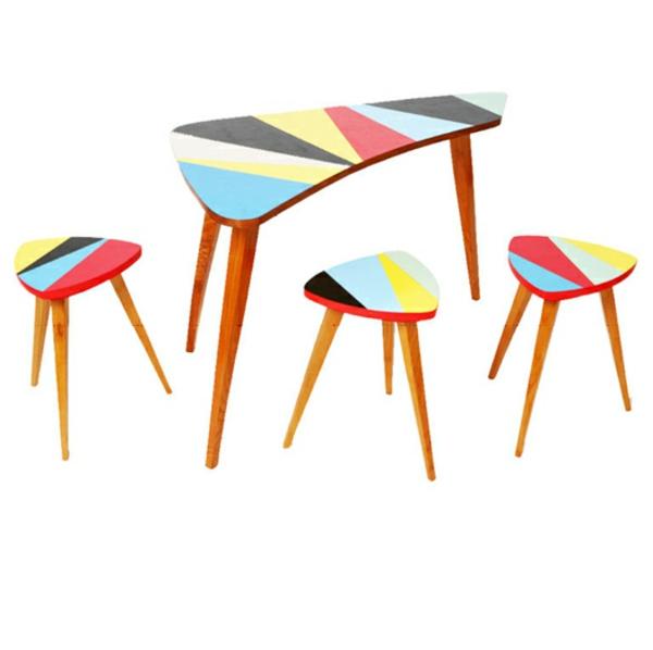vintage stühle tisch hocker esstisch