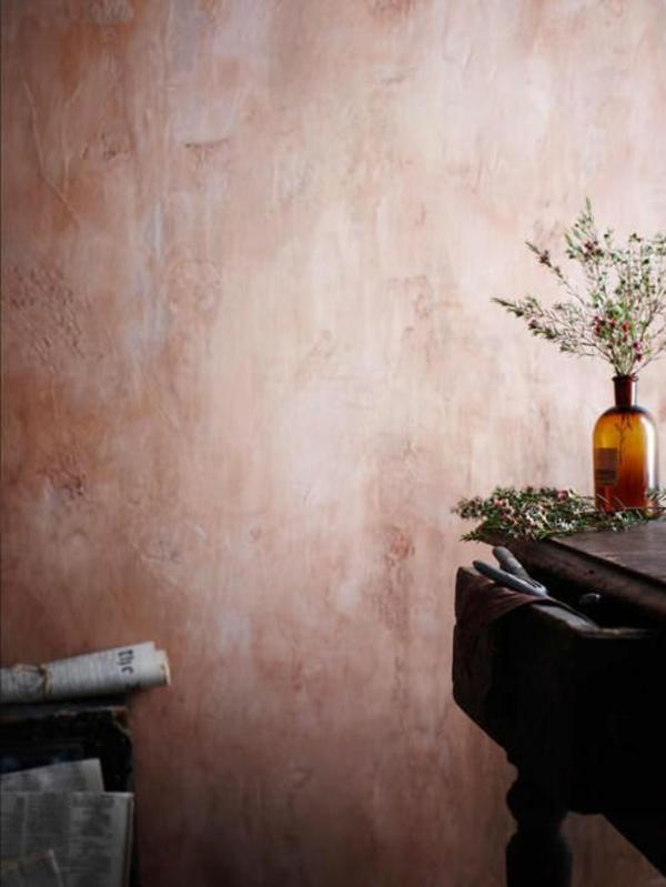 wände verputzen dekor streichputz wandgesrtaltung ideen