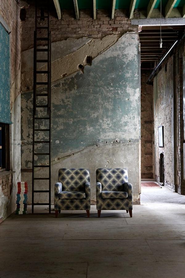 wände verputzen rustikale einrichtung betonoptik streichputz shabby shic stil