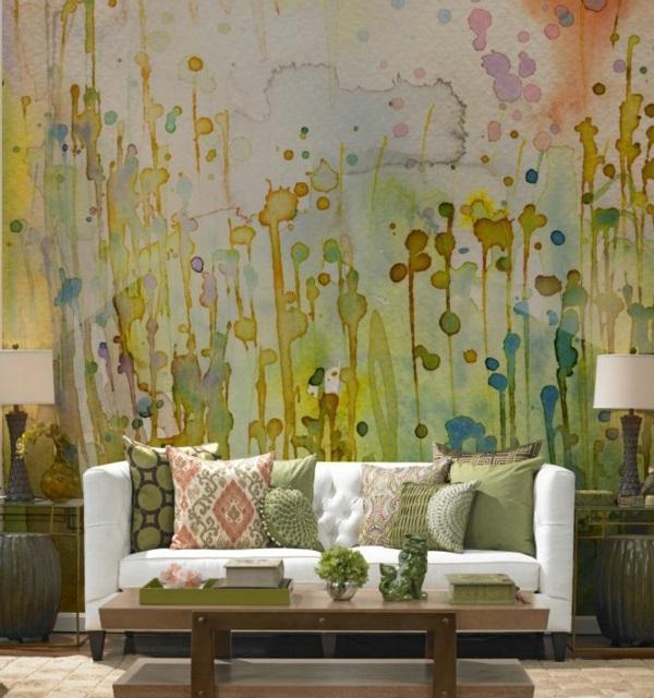 wanddeko wohnideen wandfarben toll gestalten kunst