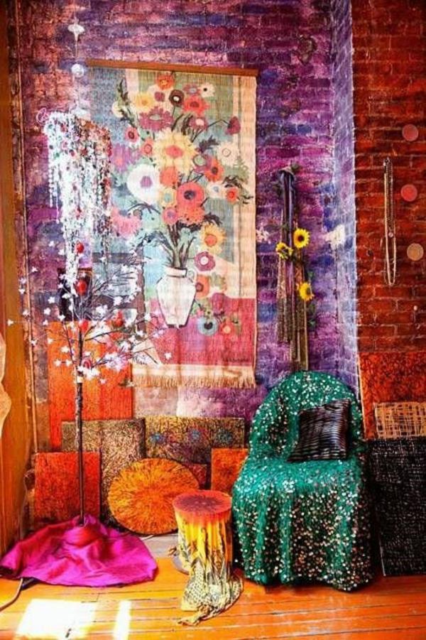 wanddeko wohnideen wandfarben toll gestalten orientalisch