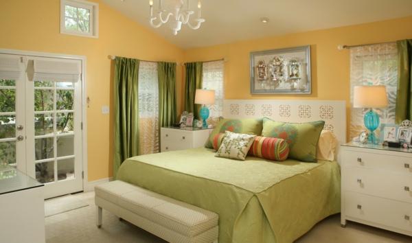 wandfarbe eierschalenfarben schlafzimmer wandfarben gelb