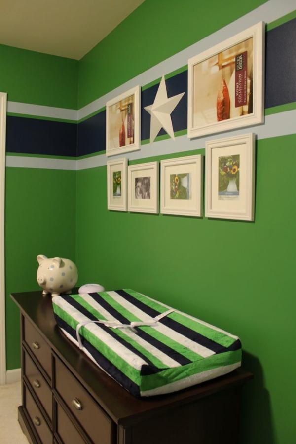 wandfarbe in grün farbideen wandgestaltung babyzimmer ausstattung