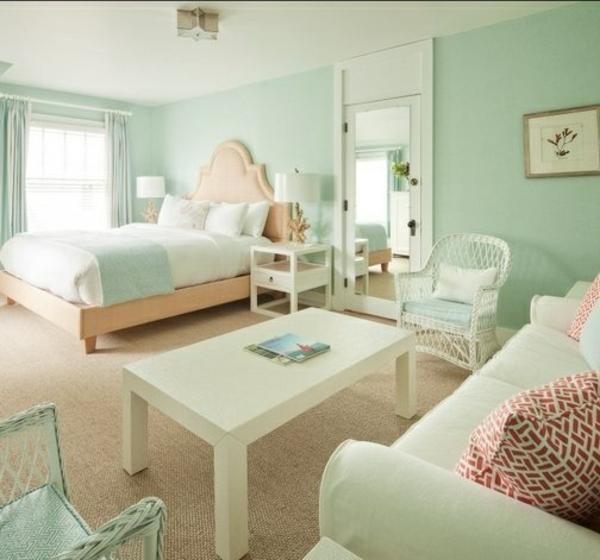 Wohnzimmer beige grun