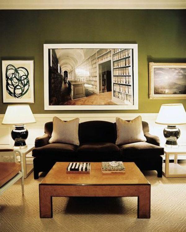 Wohnzimmer grun lila