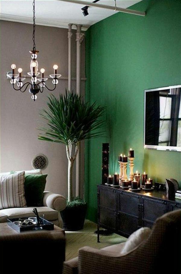 1001 frische ideen f r wandfarbe in gr n farbtrend 2017. Black Bedroom Furniture Sets. Home Design Ideas