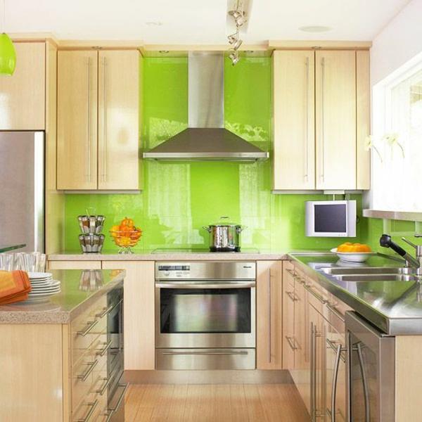 wandfarbe farbideen wandgestaltung küchenrückwand fliesenspiegel
