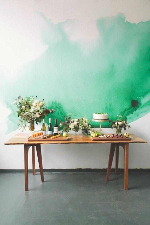 wandfarbe dekoration grün farbideen wandgestaltung kunst