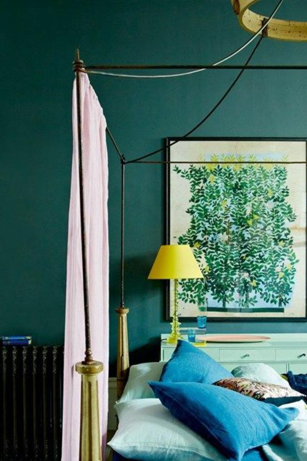 wandfarbe-in-grün-farbideen-wandgestaltung-raumteiler