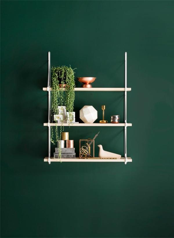 wohnzimmer wandfarbe grün : wandfarbe zimmerpflanzen grün farbideen ...