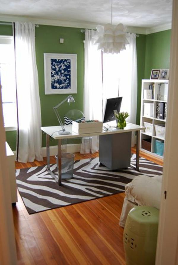 wandfarbe grün farbideen wandgestaltung teppich bodenbelag