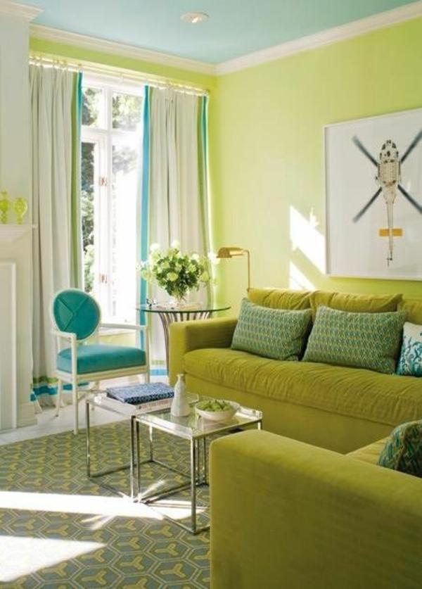wandfarbe grün farbideen wandgestaltung wohnecke