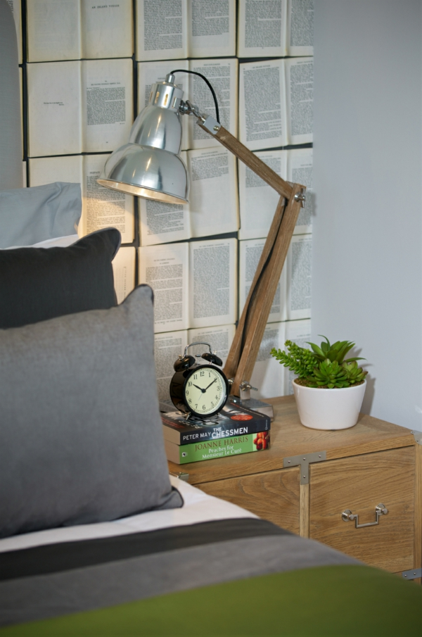 wandgestaltung ideen design toll modern stehlampe