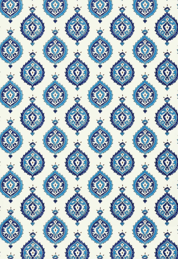 wandgestaltung mit tapeten designer tapeten muster blau