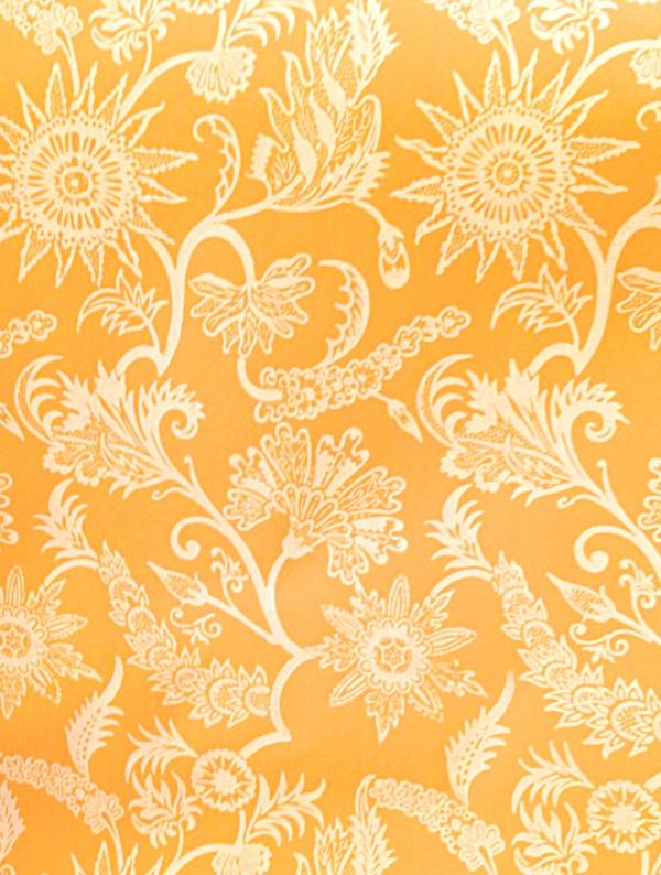 wandgestaltung mit tapeten designer tapeten muster gelb
