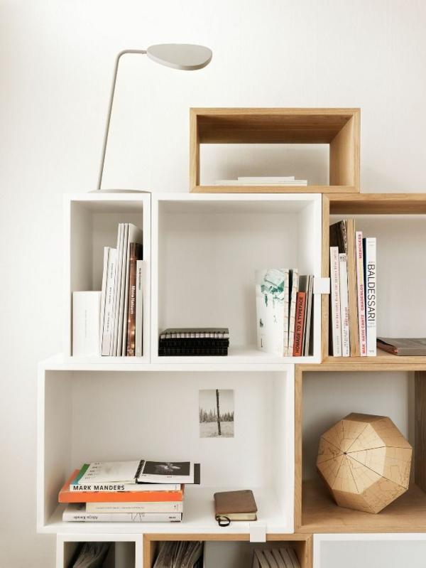 wandregale bücherregale holz skandinavische möbel holz designideen
