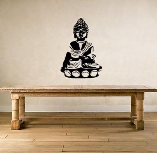 wandtattoo im esszimmer wandgestaltung wandsticker buddha