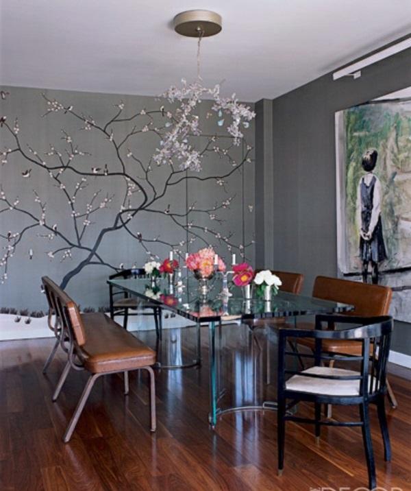 25 dekoideen für wandtattoo im esszimmer - Wandgestaltung Esszimmer