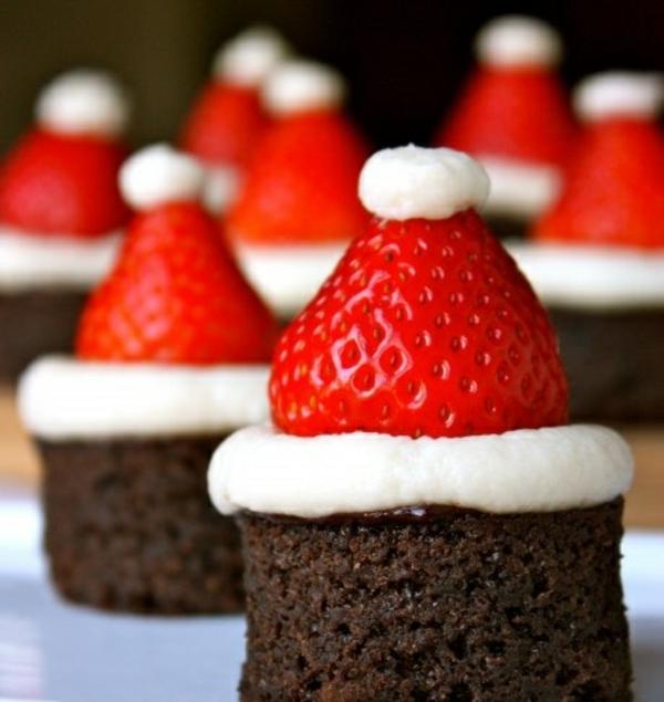 weihnachtiches basteln deko ideen erdbeeren törtchen resized