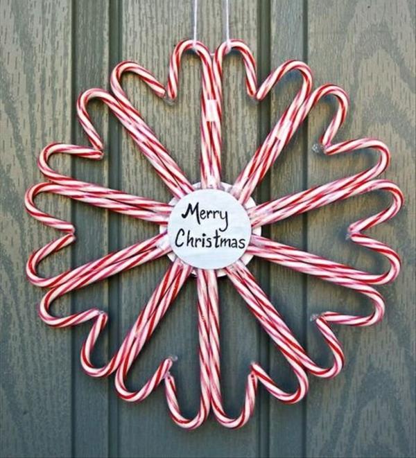 weihnachtliches basteln adventskranz ideen türkranz weihnachten