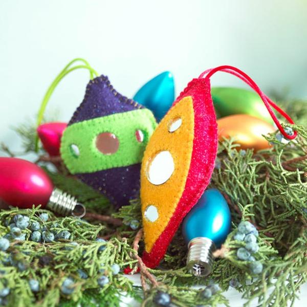 weihnachtliches basteln bastelideen für weihnachten aus filz