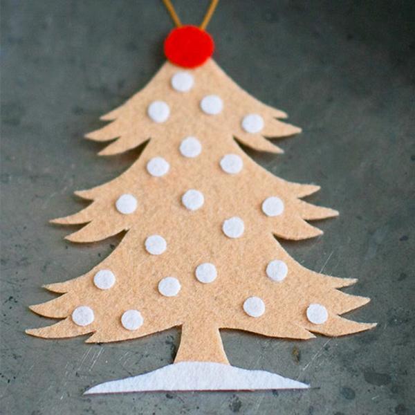 weihnachtliches basteln mit kindern bastelideen für weihnachten filz tanne